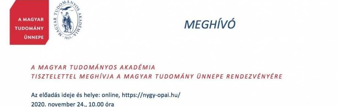 A Magyar Tudomány Ünnepe